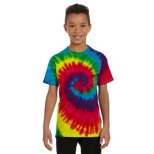 Tie Dye dark rainbow child