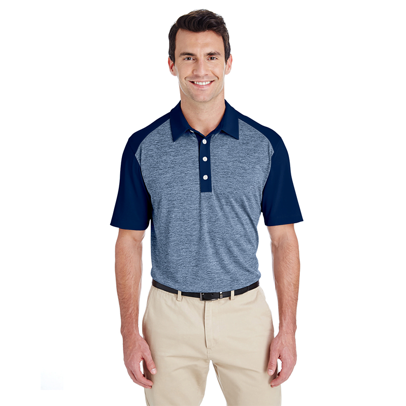 A145-Heather-Block-Men's-Polo