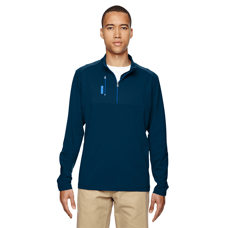 A195-Men's-Mixed-Media-Quarter-Zip