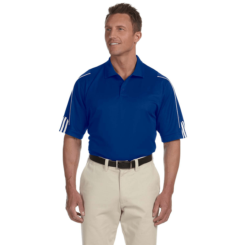 A76-Men's-Climate-3-stripes-Cuff-Polo