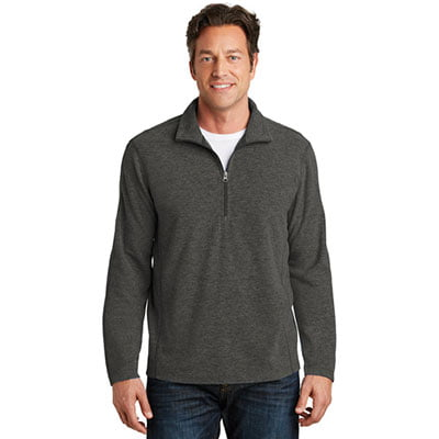 F234-Heather-MicroFleece-Half-Zip-Pullover