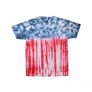 Tie Dye flag shirt