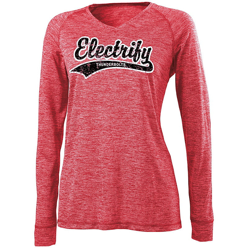 Holloway Ladies Electrify 2.0 Long Sleeve V-neck shirt