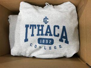 Ithaca College sweatshirt