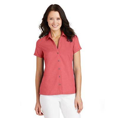 L662-Ladies-Textured-Camp-Shirt