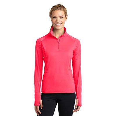 LST850-Ladies-Sport-Wick-Stretch-half-zip-pullover