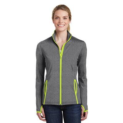 LST853-Ladies-Sport-Wick-Stretch-Contrast-Zip-Jacket