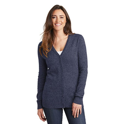 LSW415-Ladies-Marled-Cardigan-Sweater