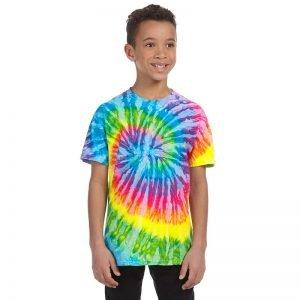 Tie Dye neon rainbow shirt