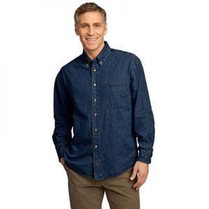 Port & Company long sleeve denim shirt