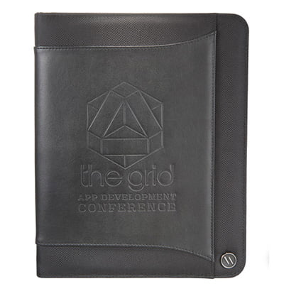 the grid ellevan zippered padfolio