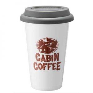 Cabin coffee ceramic tumbler
