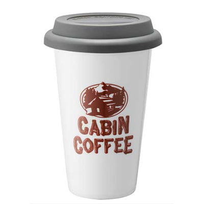Cabin coffee ceramic tumbler