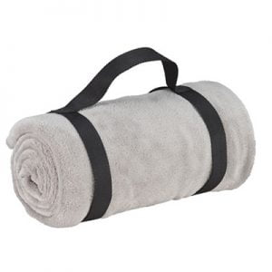Blanket with carry handle