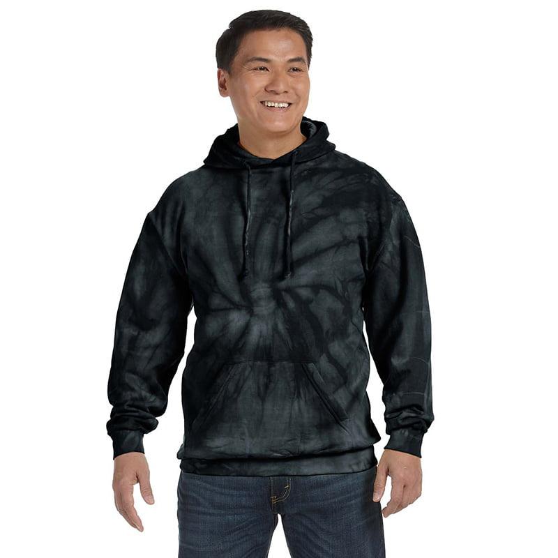 Tie Dye spider black hoodie