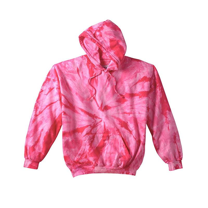 Tie Dye spider pink hoodie