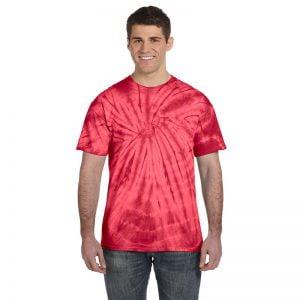 Tie Dye spider red shirt