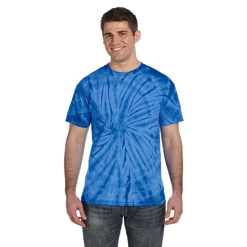 Tie Dye spider royal shirt