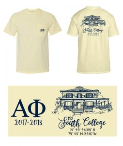 South College tee shirt