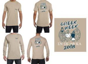 Greek Week tee shirts