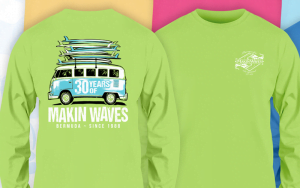 Bermuda Makin Waves 30 Years shirt