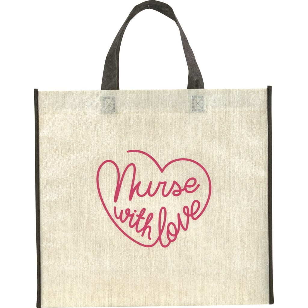 Nurse with Love tote bag