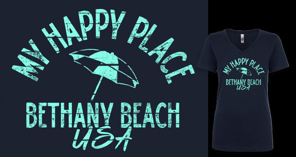 My Happy Place Bethany Beach shirt