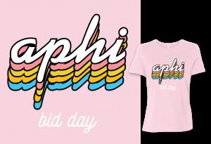 aphi bid day tee shirt