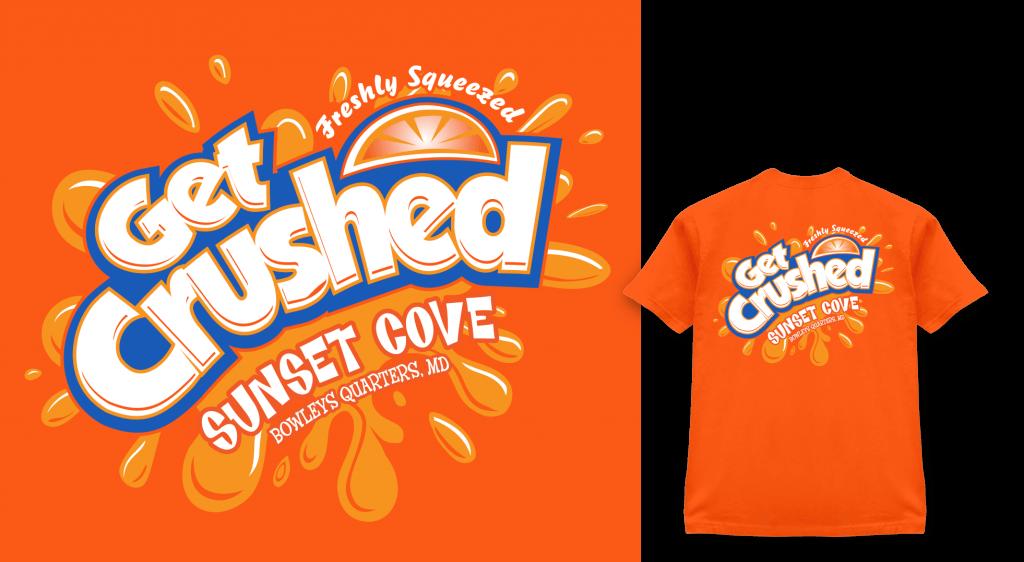Get Crushed Sunset Cove shirt