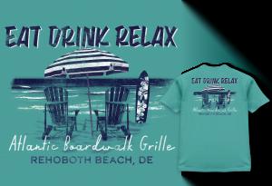 Eat Drink Relax Atlantic Boardwalk Grille shirt
