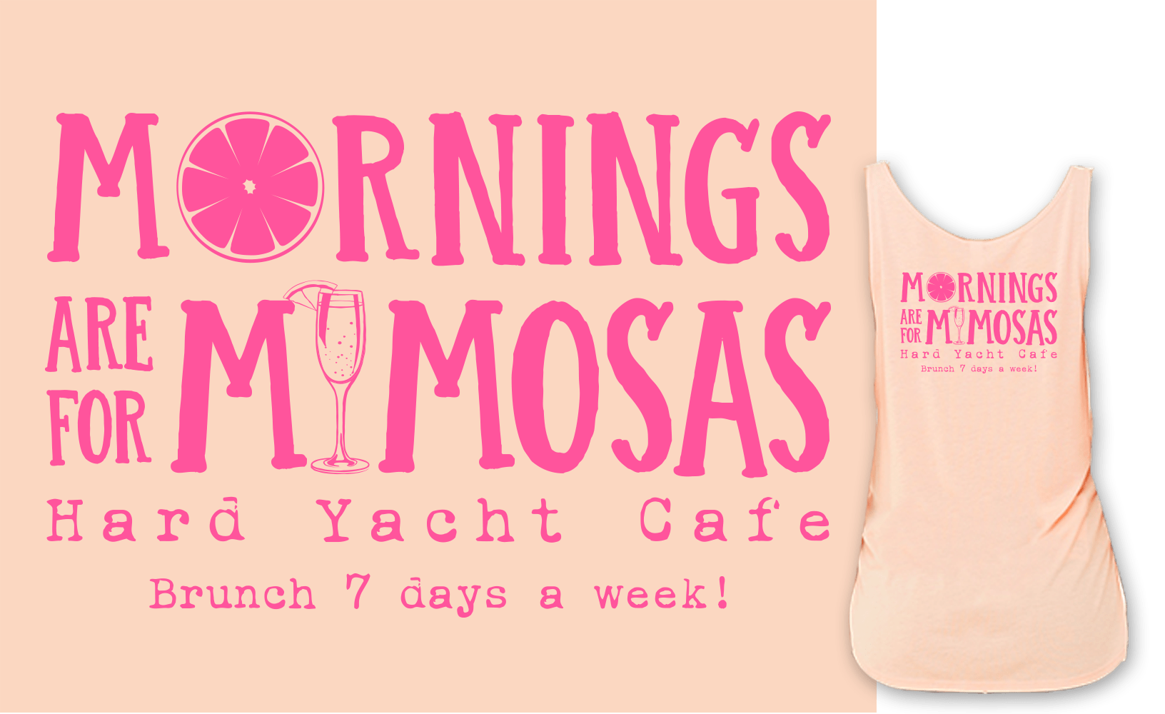 Morning are For Mimosas Hard Yacht Cafe tank top