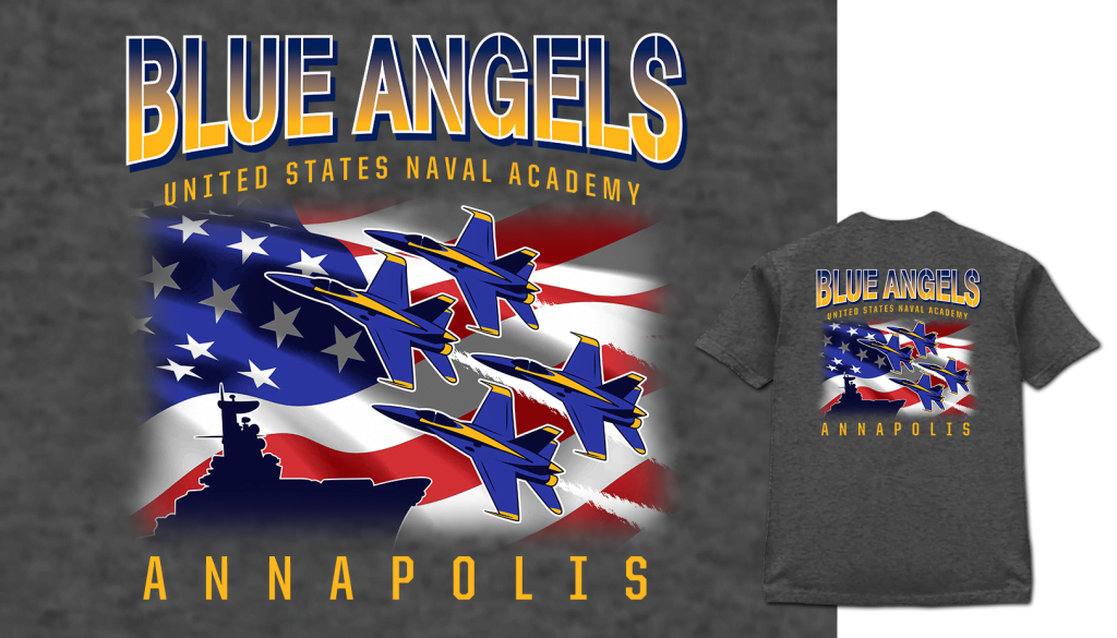 Blue Angels United States Navel Academy Annapolis shirt