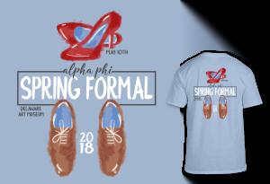 Alpha Phi Spring Formal tee shirt