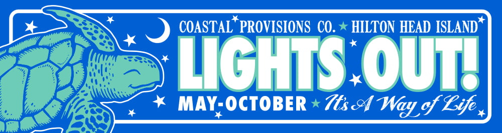 Coastal Provisions - Lights Out Bumper Sticker