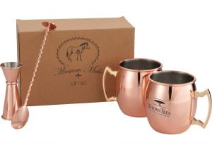moscow mule, mug, gift set, holiday, drinks, drink mixing