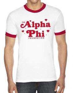 alpha phi, t-shirt, greek apparel, sorority apparel, greek week, spring formal, fraternity
