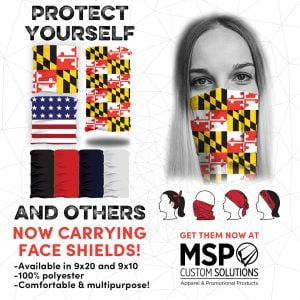 face masks, gaitor, protection, maryland